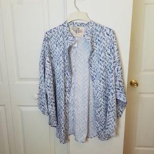 Kimichi Blue Open Kimono Shirt Medium / Large